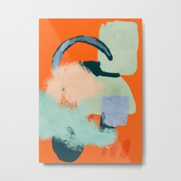 At home abstraction in orange Metal Print