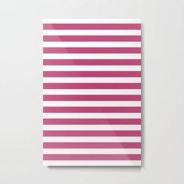 Fuchsia Rose Lines Pattern Metal Print