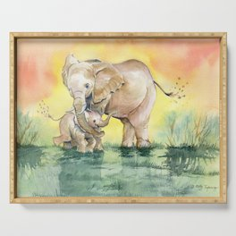 Colorful Mother's Love - Elephant Serving Tray