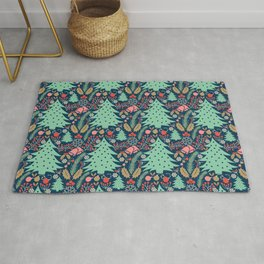 Maximalist Decorative Christmas Rug