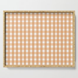Gingham: Peach Serving Tray
