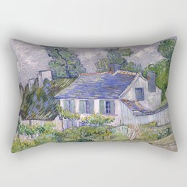 Houses at Auvers by Vincent van Gogh, 1890 Rectangular Pillow