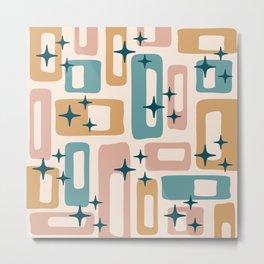 Retro Mid Century Modern Abstract Pattern 126 Metal Print