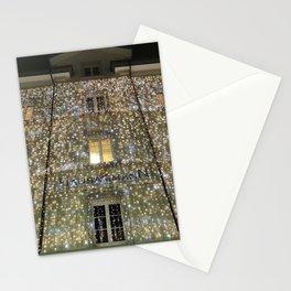 swirly lights Stationery Cards