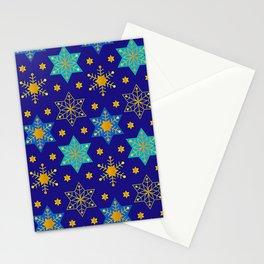 Hanukkah Holidays Star of David Contemporary Pattern Stationery Cards