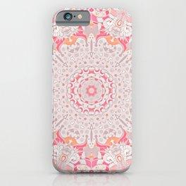 BOHO SUMMER JOURNEY MANDALA - PASTEL ROSE PINK iPhone Case