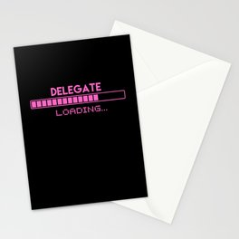 Delegate Loading Stationery Cards