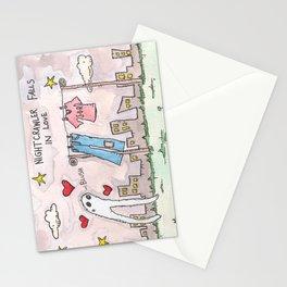 Nightcrawler Falls in Love Stationery Cards