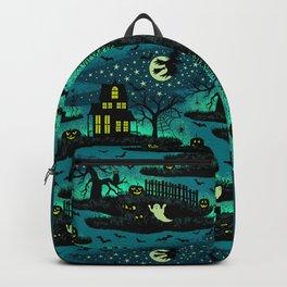 Halloween Night - Fox Fire Green Backpack