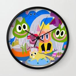 LE ROI PETIT POIS-part 3 Wall Clock