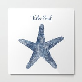 Starfish Tide Pool habitat Metal Print