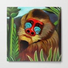 "Henri Rousseau ""Mandrill in the jungle"" Metal Print"