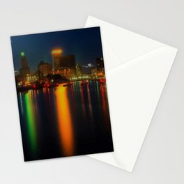 Providence Summer Nights City Skyline Landscape by Jeanpaul Ferro and Mike Dooley Stationery Cards