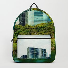 Tokyo Japan Rivers Trees Cities Building river Houses Backpack