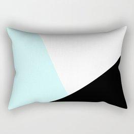 Trichromatic Aqua Blue Rectangular Pillow