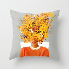 I Saw You Flower in the reflection of my Soul Throw Pillow