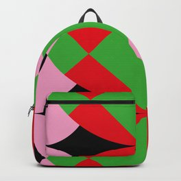 A lot of squares, some curves, colors etc... I see butterflies here. Backpack