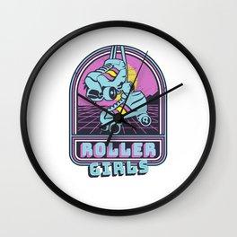 Vintage Roller Girls - Skating 80s Disco Roller Skater Wall Clock