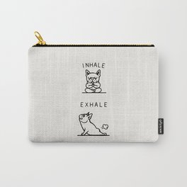 Inhale Exhale Frenchie Tasche