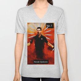Novak Djokovic,tennis player No.1 Unisex V-Neck