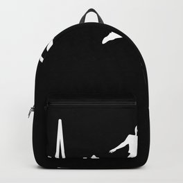 Football Heartbeat Line Funny Gift Backpack