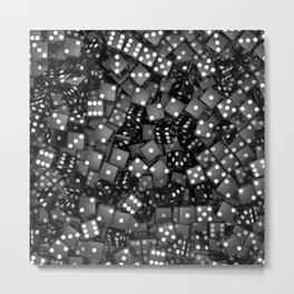 Black dice Metal Print