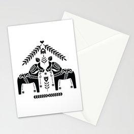 Swedish Dala Horse Folk Stationery Cards