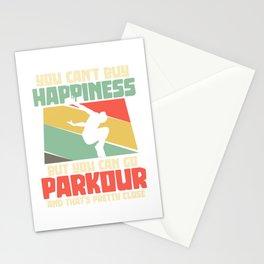 Parkour parkour runner freerunner running Stationery Cards