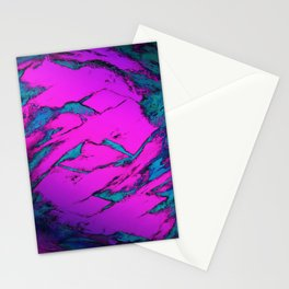 Fractured anger pink Stationery Cards
