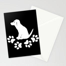 Sitting dog with dog paws, dog fan Stationery Cards