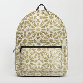 Hara Tiles Gold Backpack