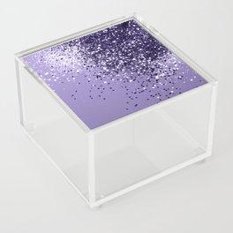 ULTRA VIOLET Glitter Dream #1 #shiny #decor #art #society6 Acrylic Box