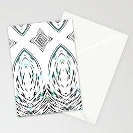 Folk Art Stylised Mirror Modern Geometric Pattern Stationery Cards