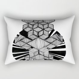 Dancing monkey ink illustration Rectangular Pillow