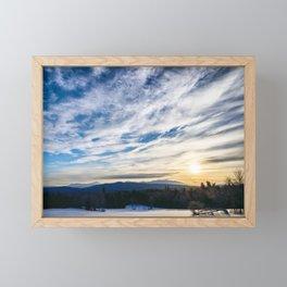 Winter Scene Framed Mini Art Print