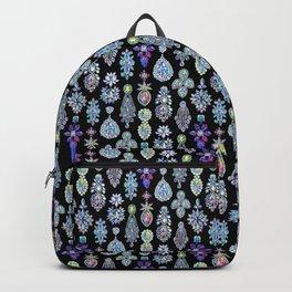 AB Crystal Earrings Pattern Backpack