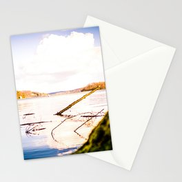 Cloudy Möhne Reservoir Lake 2 bright Stationery Cards