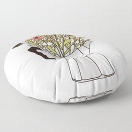 Moka Flowers Floor Pillow