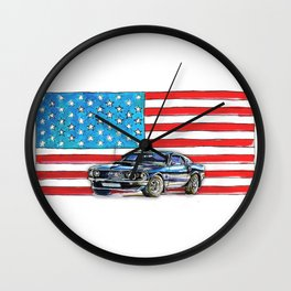 Ford Mustang Boss 429 Wall Clock