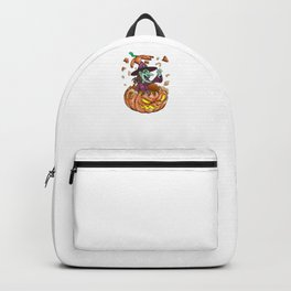 Witch Pumpkin, It's Show Time Funny Halloween Horror Scary Backpack