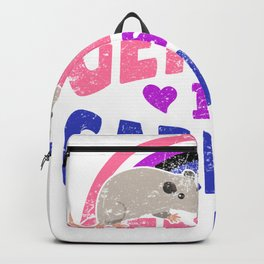 Gender Is Garbage Genderfluid Mouse Rat Animal LGBTQ Pride Backpack