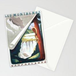 retro plakat Les Montagnes Yugoslaves Stationery Cards