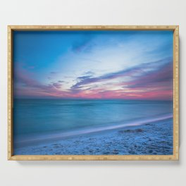 If By Sea - Sunset and Emerald Waters Near Destin Florida Serving Tray