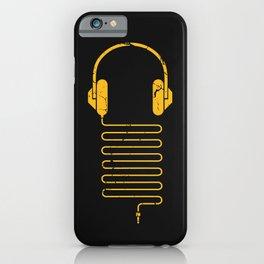 Gold Headphones iPhone Case