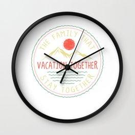 family holiday Wall Clock