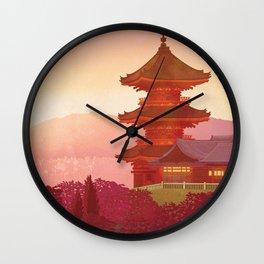 Kyoto, Japan Travel poster Wall Clock