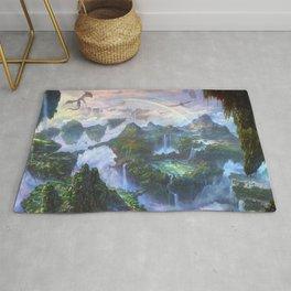 Majestic Mystical Fairytale Levitating Heaven Kingdom Gliding Wyvern UHD Rug