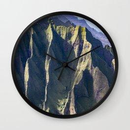 Hawaiian Magic: Angels' View Over Coastal Cliffs Wall Clock