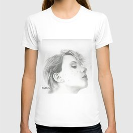 Drawing of Scarlett Johansson T-shirt