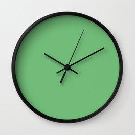 Iguana Green - solid color Wall Clock